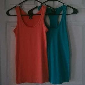 2 soft touch tank tops